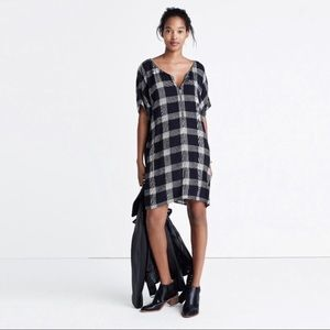 Madewell Zip Front Dress in Buffalo Plaid